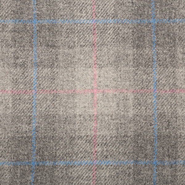 Grey, Pink & Blue Check – 005