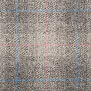 Grey, Pink & Blue Check, BH14005