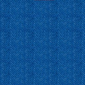 Bright Blue Herringbone, BH16013